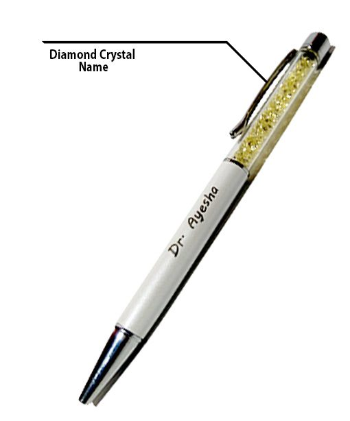 Crystal Diamond Pen with Engraved Name from Penhouse