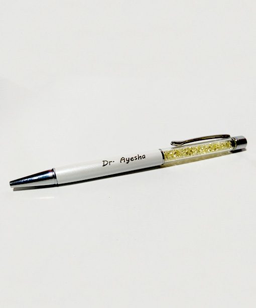 Crystal Diamond Pen with name engraved is best online gift & Present