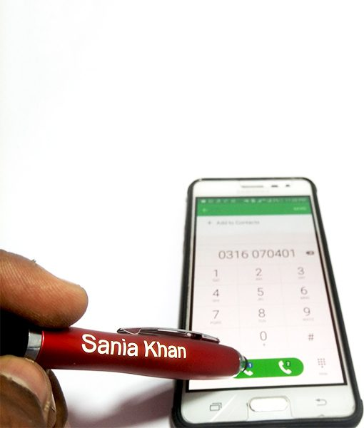 Stylus Light Pen with custom name & mobile touch is the perfect give out there