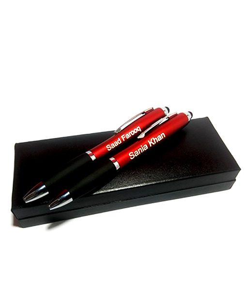 Two Stylus Light Pen on luxury Black Box from Penhosue