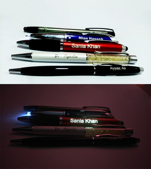 Personalized Stylus Light Pen printed name glows in dark