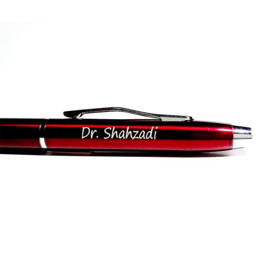 Red Metallic Pencil Pen with name engraved from Penhouse