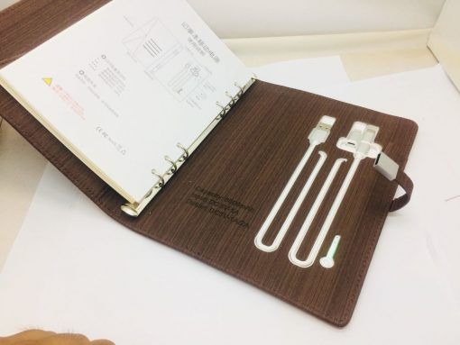 Versatile Notebook stores usb cables and is best online gift & present