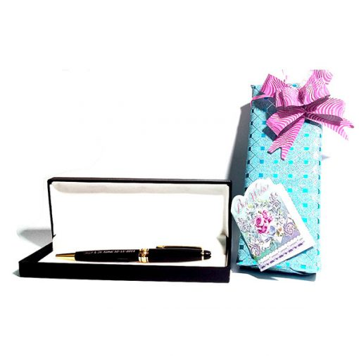 Jitter Black Pen in luxury gift wrap is best online gift & present