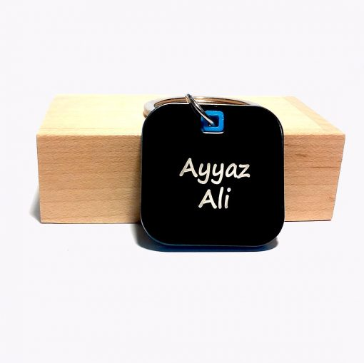 Luxury Square Keychain with cusstomised name from penhouse is best online gift & present
