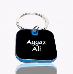 Customised Luxury Square Keychain with name is best gift for birthday, anniversary or wedding