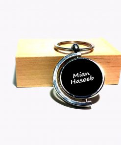 Personalized Slingshot Metallic Keychain with name is best bithday gift , anniversary gift, wedding gift or gift for husband