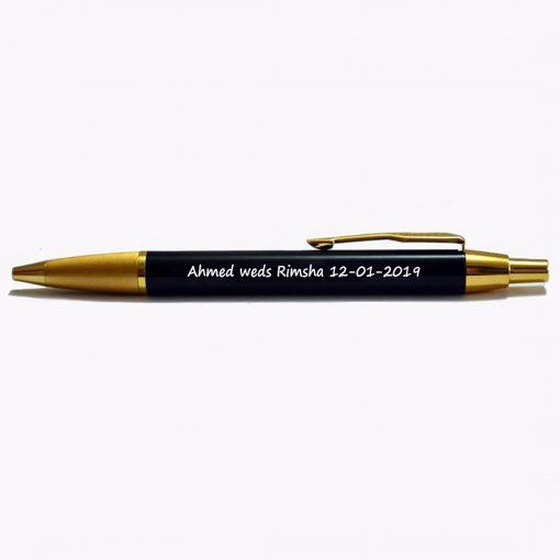 Penhouse cutomised Nikah Pen is best wedding gift