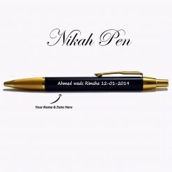 Personalized Nikah pen with name is best gift to give on your love ones marriage or wedding