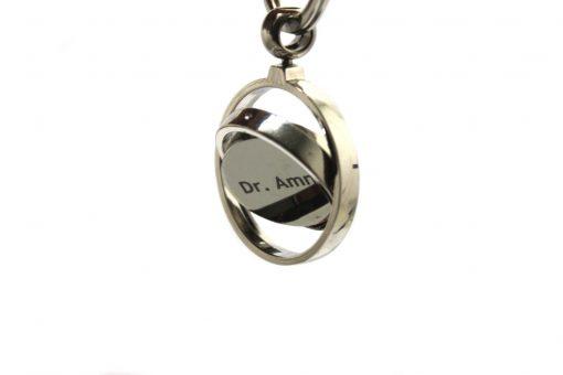 Globe Metallic Keychain with custom name is best birthday gift, anniversary gift, wedding gift or gift for husband