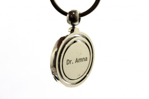 Personalized Globe Metallic Keychain with rotatable is nest gift to give on birthday, anniversary or wedding