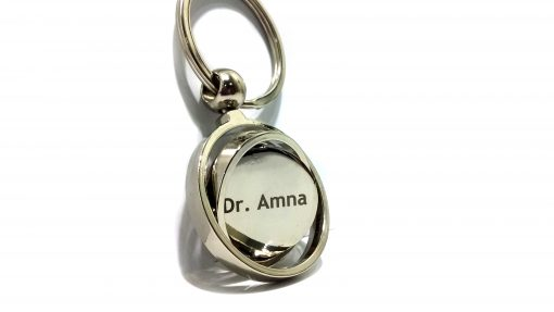 Personalized Globe Metallic Keychain with name engraved on metal is best gift for your loved ones.