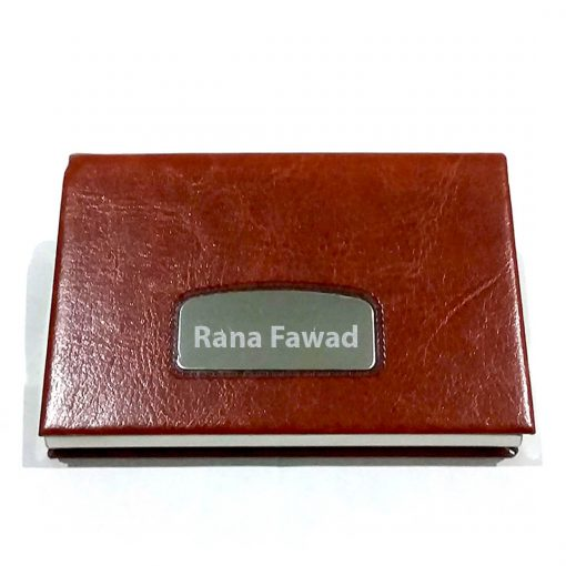 Pure Leather Texture Card Holder with customised name is best online gift & present to give to your loved ones.