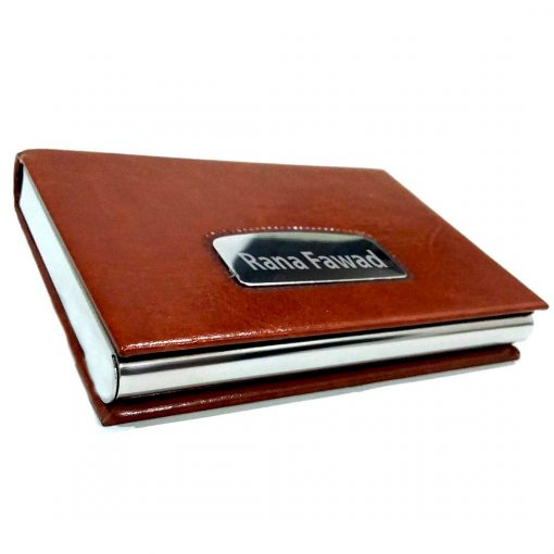 Pure Leather Texture Card Holder from Penhouse is made of premium leather and high quality metal which makes it a best gift