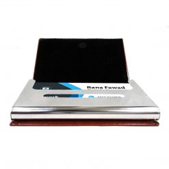 Pure Leather Texture Card Holder with name printed is great gift to give your loved ones