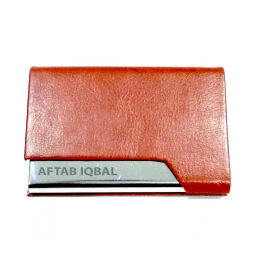 Personalized One Sided Leather Card holder is best birthday gift, anniversary gift, wedding gift or gift for husband