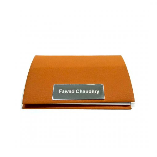 Premium Professional Leather card holder with personalized name engraved