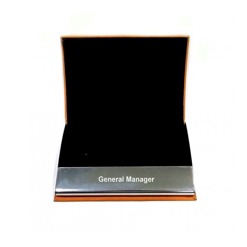 Black cloth Inside view of Professional Leather card holder from penhouse which is best gift to give your loved ones