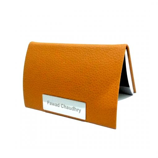 Professional Leather card holder with name printed i sbest online gift to give on birthday, anniversary or wedding