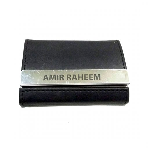 Customised name engraved Double Sided Card Holder is best to give as gift on birthday, anniversary or promotion.