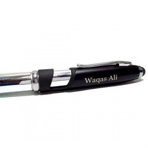 Metallic Night Light Pen with printed name on cap from Penhouse