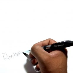 Smooth nib Metallic Night Light Pen with name printed is best online gift & present