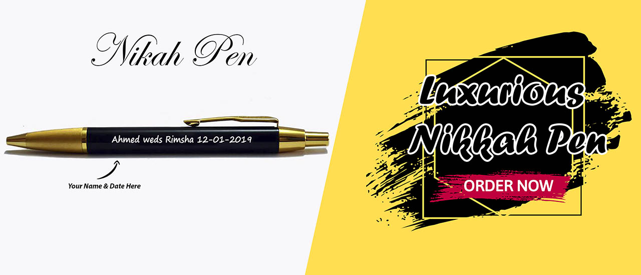 Luxurious Nikkah Pen from penhouse is the best gift for anniversary, nikah or wedding