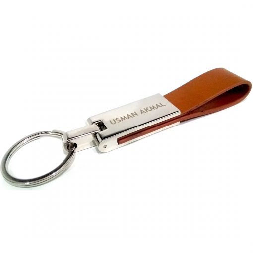 Extensive Leather Keychain with custom name from Penhouse is best for birthday gift, anniversary gift, wedding gift or gift for husband.