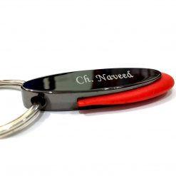 Crown Metallic Keychain with red plastic boundary is best birthday, anniversary gift