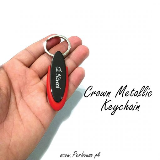 Crown Metallic Keychain is best for birthday, anniversary gift with custom name.