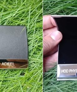 One Side Luxury Leather Card Holder personalized is best gift for husband, birthday or anniversary