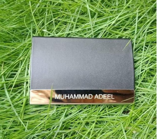 One Side Luxury Leather Card Holder is best birthday, anniversary or husband gift with personalized name.